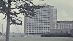 Rostock 1960's: Haus der Schiffahrt palace Stock Footage