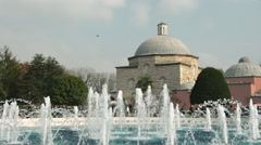 Old Turkish bath and fountain at Istanbul  Stock Footage