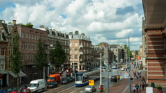 Time warp of a street in Amsterdam Stock Footage
