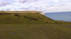 The White cliffs of Dover on a sunny day - great nature Stock Footage