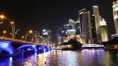 SINGAPORE - OCTOBER  2014: Singapore City Skyline Stock Footage