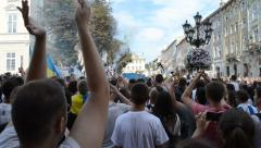 It is a lot of people against policy of Russia.This video is also in the HD Stock Footage
