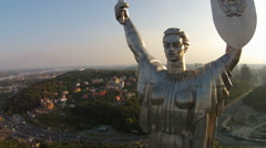 The Motherland Monument , Ukraine Stock Footage