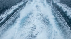 Motorboat: Wave and Foam Track // HD Stock Footage