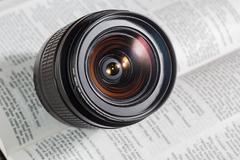 Digital camera auto focus lens Stock Photos