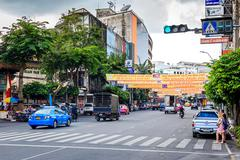 Bangkok yaowarat road,the main street in chinatown Stock Photos