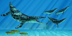 kronosaurus marine reptile - stock illustration