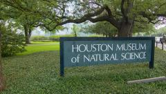 Front of the Houston Museum of Natural Science Stock Footage