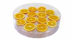Time-lapse of drying orange fruit in UHD 4K format Stock Footage