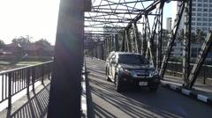 Steel bridge Stock Footage