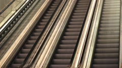 Moving stairs Metro train station Malmo in Sweden Stock Footage