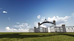 Stock Illustration of gate to heaven