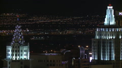 Brightly Lit Towers in Las Vegas - stock footage