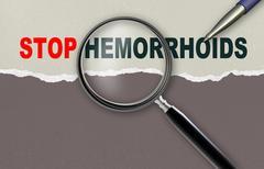 Stock Illustration of stop hemorrhoids