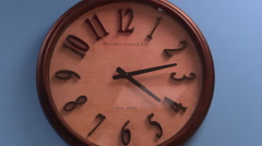 Clock on Wall Closeup Stock Footage