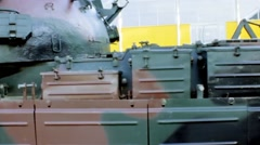Military tank close up Stock Footage