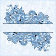 Stock Illustration of blue colour decorative template for greeting card