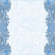 Stock Illustration of blue colour unusual floral ornamental template