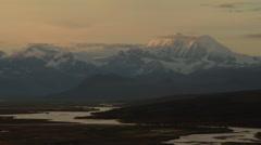Mt Hayes at Midnight Alaska Range Stock Footage