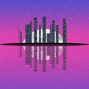Night cityscape generated texture Stock Illustration