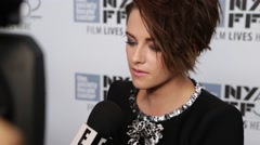 Kristen Stewart Interview at the New York Film Festival Stock Footage