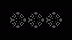 Animated concentric geometric shapes 21p Stock Footage