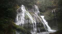Panther Creek Waterfalls in Wind River Valley Skamania County Washington Stock Footage