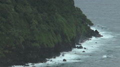 rough high cliffs and coastline at maui, hawaii - stock footage