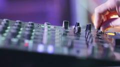 DJ booth hands - stock footage