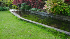Water streem in a park Stock Footage