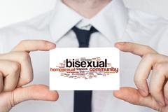 Bisexual. businessman in white shirt with a black tie showing or holding busi Stock Illustration