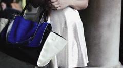 High Fashion Hand Bag & White Dress Stock Footage