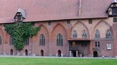 Malbork castle - the courtyard Stock Footage