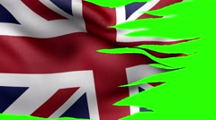All flags UK Alpha Stock Footage