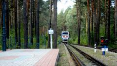 Children's railway in Novosibirsk, Russia - stock footage