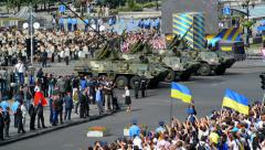 Military parade in Kiev Stock Footage