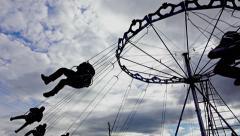 Carnival swing ride at fair, sony 4k shoot Stock Footage