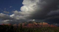 Sedona Arizona Majestic Red Rocks Time Lapse Stock Footage