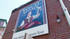 Stock Video Footage of Sam Adams Sign at Brewery