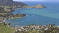 Stock Video Footage of Scenic view over Whangarei Heads in Northland