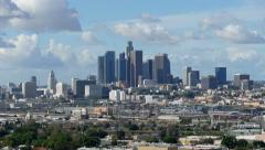 Los Angeles After Storm Time Lapse Tele - stock footage