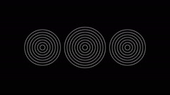 Animated concentric geometric shapes 23n Stock Footage