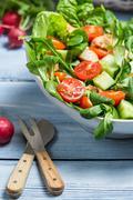 Closeup of fresh vegetable salad Stock Photos