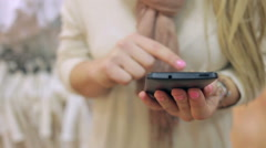 Stock Video Footage of woman with a smartphone, chatting