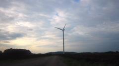 Windturbine / Wind Power with a sky - stock footage