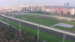 Aerial View of Empty Hippodrome - stock footage