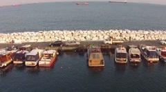 Fisher Boat Marina Stock Footage