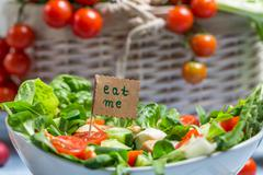 fresh salad is a symbol of healthy eating - stock photo