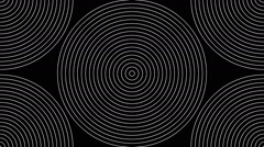 Animated concentric geometric shapes 24n Stock Footage
