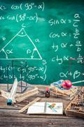 Trigonometry classes in school Stock Photos